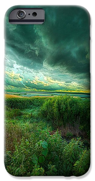 Summer Storm iPhone Cases - And For A Moment It Was Silent iPhone Case by Phil Koch