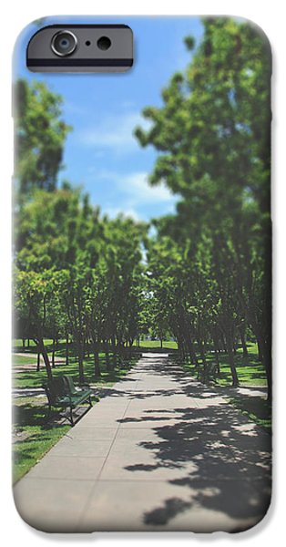 Park Benches iPhone Cases - And I Saw You Sitting There iPhone Case by Laurie Search