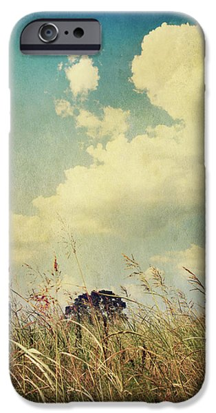 Field. Cloud iPhone Cases - And The Livins Easy iPhone Case by Laurie Search