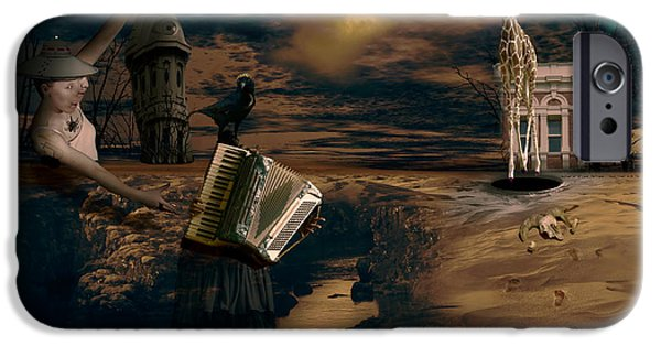 Piano iPhone Cases - And the Wind Cries Merrily . . . iPhone Case by Peter Krause