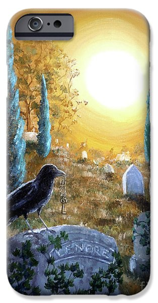 Crows iPhone Cases - And This Mystery Explore iPhone Case by Laura Iverson