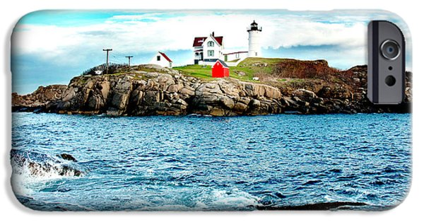 Cape Neddick Lighthouse Photographs iPhone Cases - And Yet Another iPhone Case by Greg Fortier