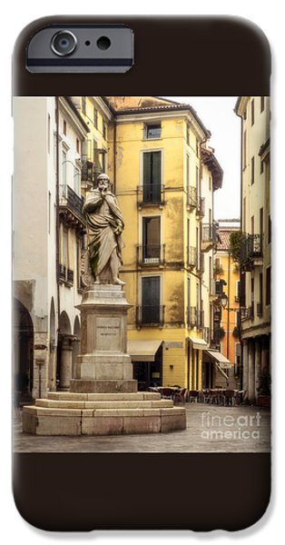 Charly iPhone Cases - Andrea Palladio Statue iPhone Case by Prints of Italy