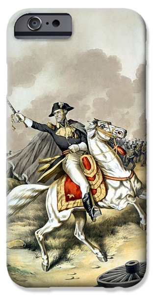 Patriots iPhone Cases - Andrew Jackson At The Battle Of New Orleans iPhone Case by War Is Hell Store