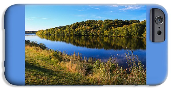 Fall iPhone Cases - Androscoggin Morning iPhone Case by Laurie Breton