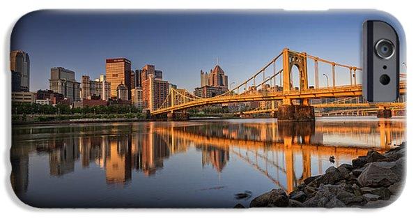 Roberto iPhone Cases - Andy Warhol Bridge iPhone Case by Rick Berk
