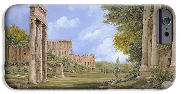 Ancient iPhone Cases - Anfiteatro Romano iPhone Case by Guido Borelli