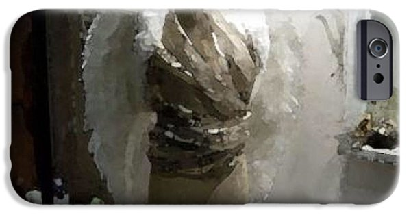 Fort Collins Digital Art iPhone Cases - Angel Dresser iPhone Case by Gary Freeman