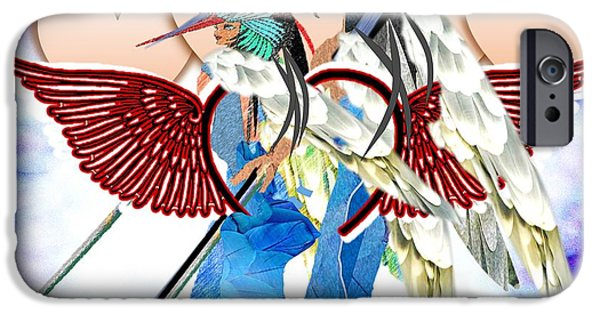 Religious Drawings iPhone Cases - Angel Fighters For Charity iPhone Case by Belinda Threeths