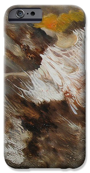 Gray Hair iPhone Cases - Angel Flight. Monotype iPhone Case by Valentina Kondrashova