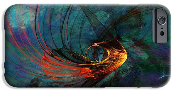 Expressionism Digital Art iPhone Cases - Angel from the Deep iPhone Case by David Lane