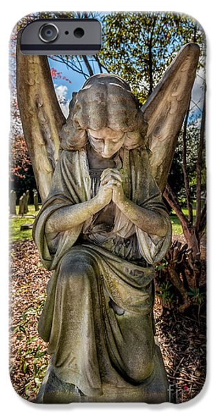 Prayer Digital Art iPhone Cases - Angel In Prayer iPhone Case by Adrian Evans