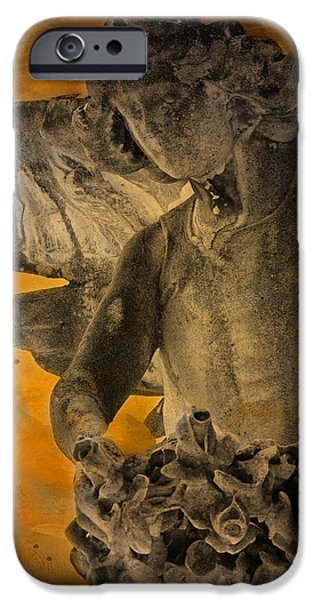 Headstones iPhone Cases - Angel of Mercy iPhone Case by Larry Marshall