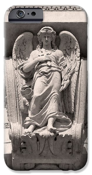 Angel Reliefs iPhone Cases - Angel of St Stephens Basilica Budapest iPhone Case by James Dougherty
