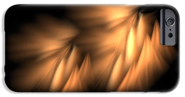 Seraphim Angel Digital Art iPhone Cases - Angelic Spirits iPhone Case by Doug Morgan