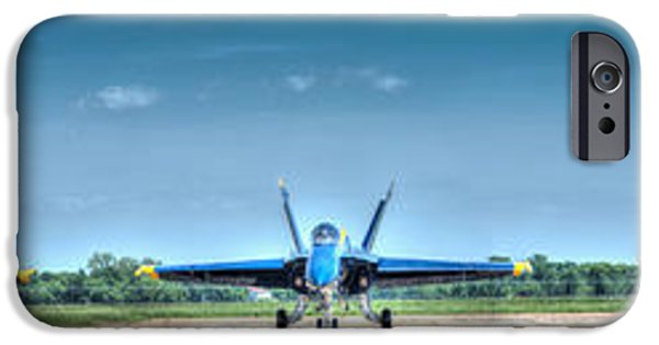 Angel Blues iPhone Cases - Angels all in a Row iPhone Case by Phil Rispin