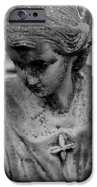 Statue Portrait iPhone Cases - Angels Among Us iPhone Case by Viviana  Nadowski