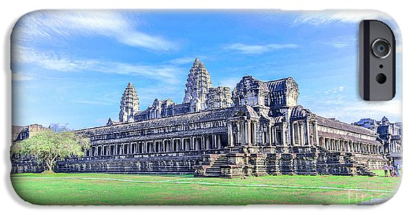 Buddhist iPhone Cases - Angkor Wat Temple Siem Reap Cambodia II iPhone Case by Rene Triay Photography