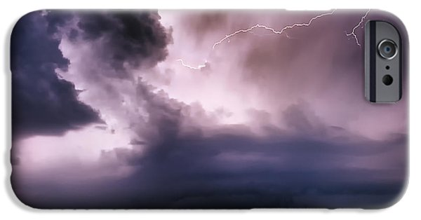 Electrical iPhone Cases - Angry Heavens iPhone Case by Renee Sullivan