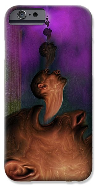 Anguish iPhone Cases - Anguish iPhone Case by Mimulux patricia no