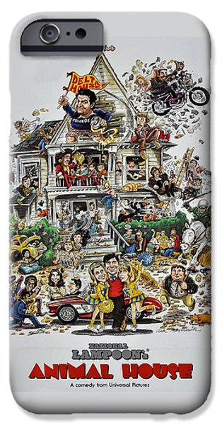 Celebrities Photographs iPhone Cases - Animal House  iPhone Case by Movie Poster Prints