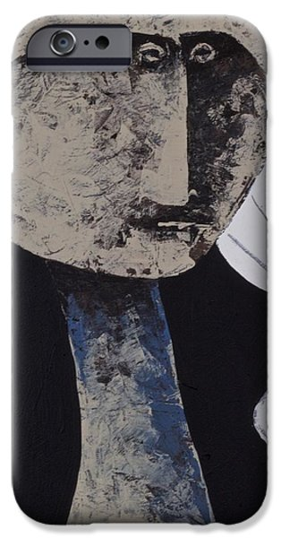 Outsider Mixed Media iPhone Cases - ANIMUS No. 71  iPhone Case by Mark M  Mellon