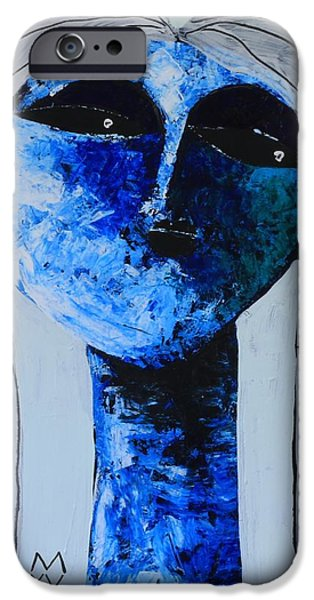 Outsider iPhone Cases - ANIMUS No. 82  iPhone Case by Mark M  Mellon
