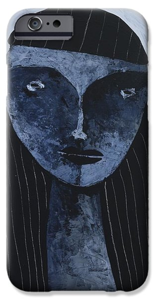 Outsider Mixed Media iPhone Cases - ANIMUS No. 86 iPhone Case by Mark M  Mellon