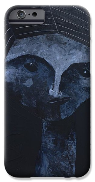 Outsider Mixed Media iPhone Cases - ANIMUS No. 87 iPhone Case by Mark M  Mellon