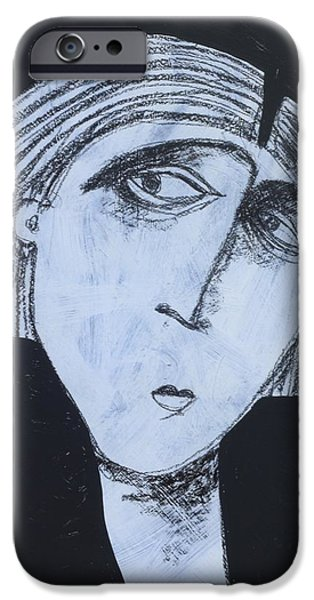 Outsider Mixed Media iPhone Cases - ANIMUS No. 88 iPhone Case by Mark M  Mellon