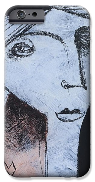 Outsider Mixed Media iPhone Cases - Animus No. 90 iPhone Case by Mark M  Mellon