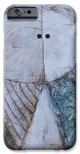 Outsider Mixed Media iPhone Cases - ANIMUS No. 92 iPhone Case by Mark M  Mellon