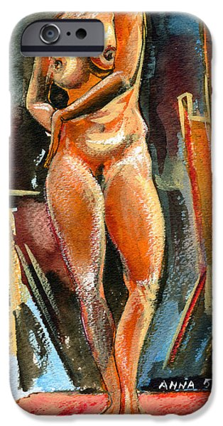 Anna Nude iPhone Case by Ion vincent DAnu