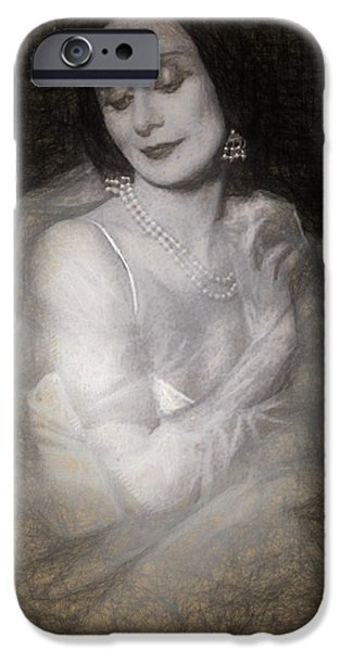 Ballet Dancers iPhone Cases - Anna Pavlova iPhone Case by Joaquin Abella