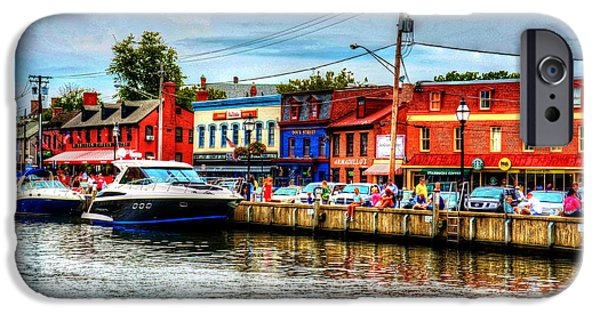 Annapolis Maryland iPhone Cases - Annapolis City Docks iPhone Case by Debbi Granruth