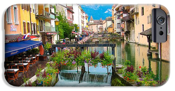 Town iPhone Cases - Annecy iPhone Case by Anna Serebryanik