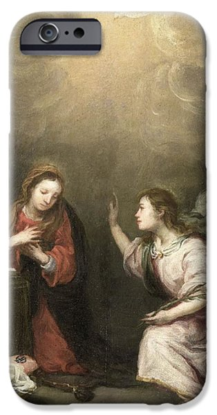 The Followers Paintings iPhone Cases - Annunciation to the Virgin iPhone Case by Celestial Images