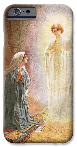 Incarnation iPhone Cases - Annunciation iPhone Case by William Brassey Hole
