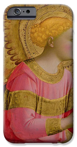 Cherub iPhone Cases - Annunciatory Angel iPhone Case by Fra Angelico