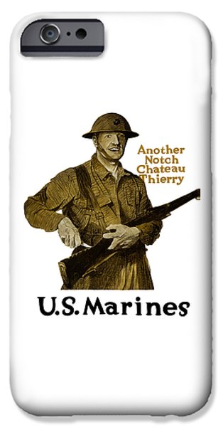 Marine iPhone Cases - Another Notch Chateau Thierry -- US Marines iPhone Case by War Is Hell Store