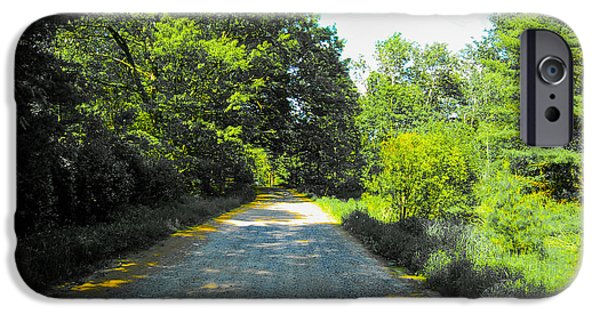 Rural Maine Roads iPhone Cases - Another October Road iPhone Case by Kevin Eckert Smith