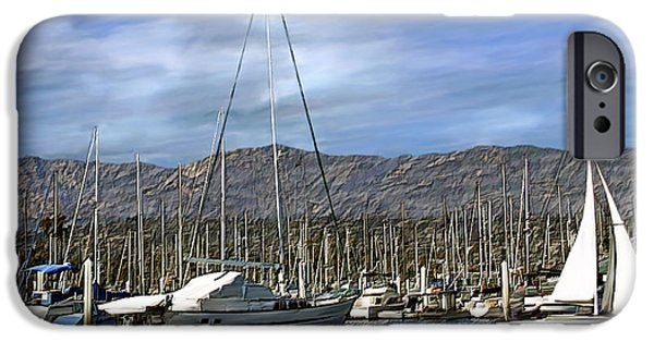 Sailboat Ocean Digital Art iPhone Cases - Another sunny day iPhone Case by Kurt Van Wagner