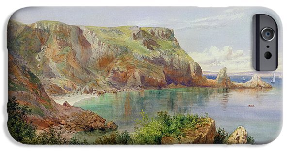 Beach Landscape Paintings iPhone Cases - Anstys Cove iPhone Case by John William Salter