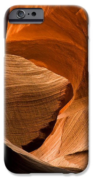 Red Rock iPhone Cases - Antelope Canyon No 3 iPhone Case by Adam Romanowicz