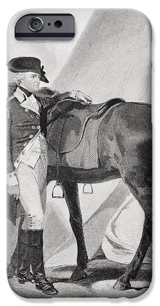 American Revolution iPhone Cases - Anthony Wayne 1745-1796. Officer In iPhone Case by Ken Welsh