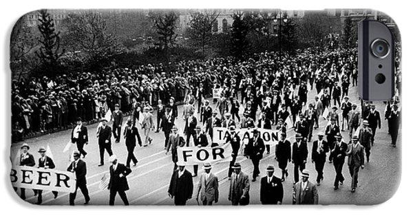 Police iPhone Cases - Anti Prohibition Rally 1933 iPhone Case by Jon Neidert