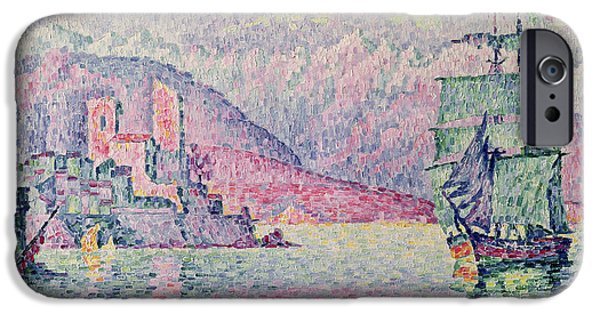 Impressionist iPhone Cases - Antibes iPhone Case by Paul Signac