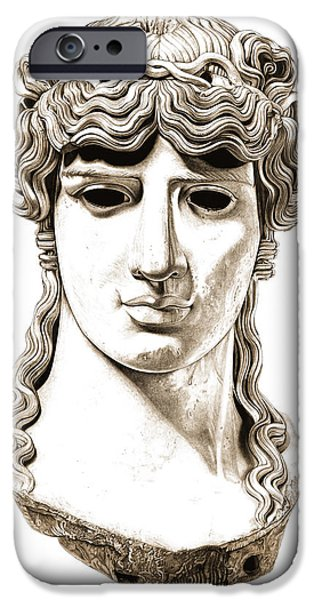 Bust Sculptures iPhone Cases - Antinous _ V2 iPhone Case by Bruce Algra
