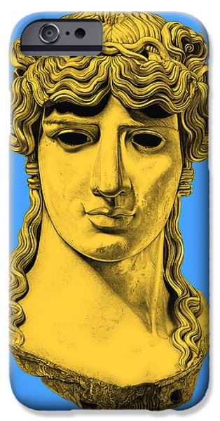 Bust Sculptures iPhone Cases - Antinous _ V4 iPhone Case by Bruce Algra