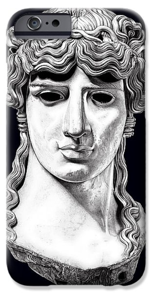 Bust Sculptures iPhone Cases - Antinous _ V5 iPhone Case by Bruce Algra